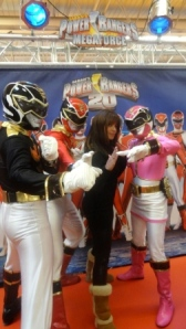 Severine Ferrer et les Power Rangers