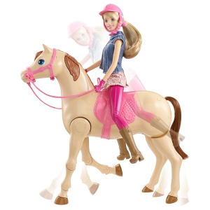 Barbie hop à cheval