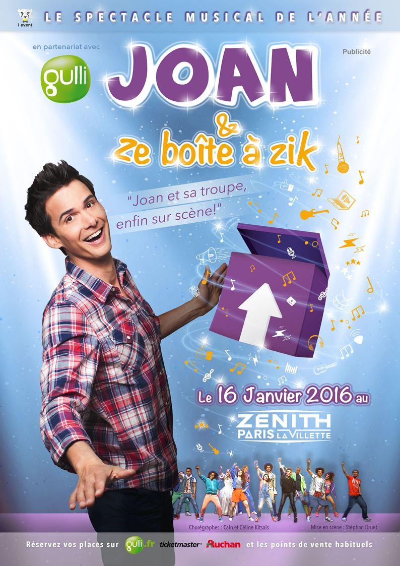 Affiche Joan Ze boîte à zik