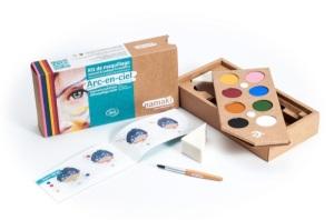 kit de maquillage bio Namaki 8 couleurs Arc-en-ciel - contenu -web