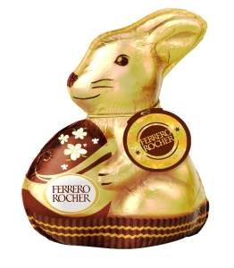 Le bon goût de Ferrero Rocher dans une forme de lapin. 3,10 €
