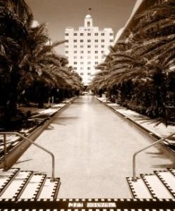 National hotel photo retro