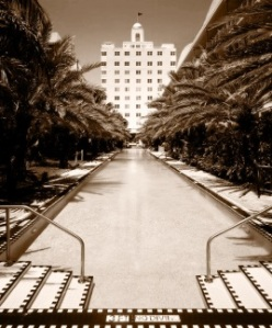 National hotel photo retro