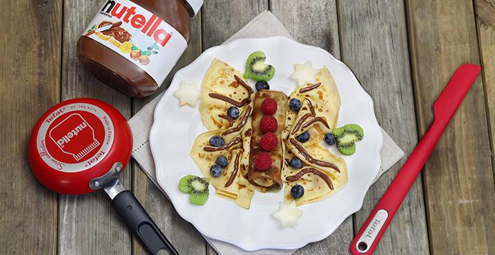 Pour les crepes c est tefal et nutella mamanautop - Crepe party tefal recette ...